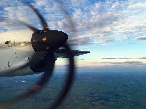 Climbing over South Waikato at sunset | by zkarj