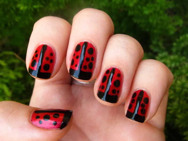 Ladybug Nail Design Via Nails Designs Blog Ift1j2w2ev Aconk