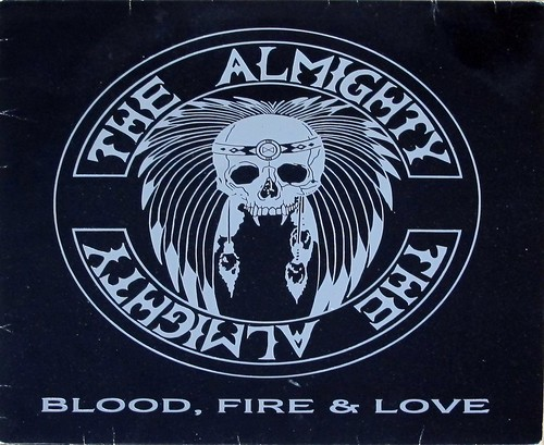 "THE ALMIGHTY BLOOD, FIRE & LOVE 12"" LP VINYL 