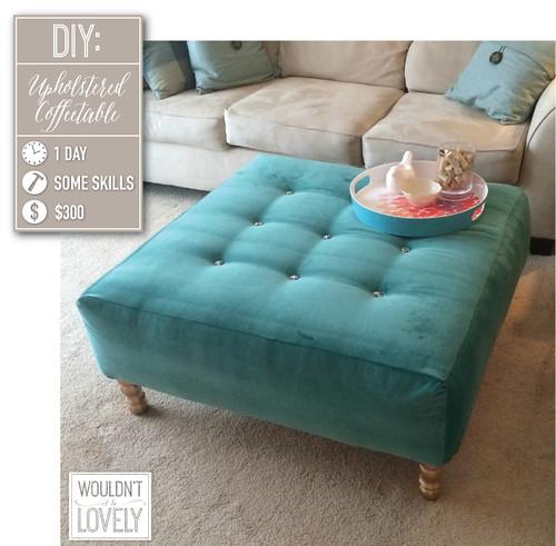 Genial ... Velvet DIY Upholstered Ottoman, How To Build Your Own Coffee Table, DIY  Tufting, Velvet