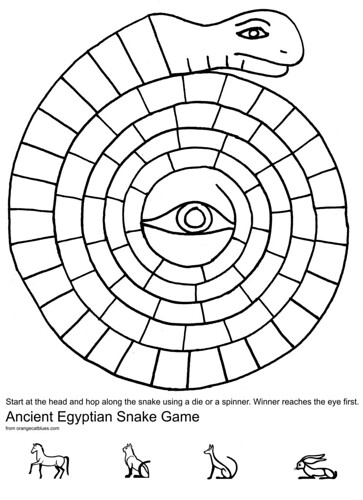 Egyptian Snake Game | by orangecatblues