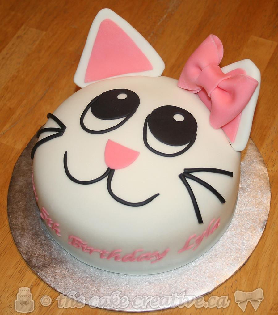 Kitty Cat Birthday Cake Vanilla Cake With Vanilla Cream Fi Flickr