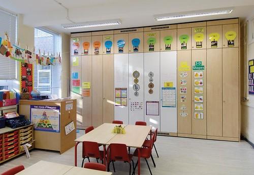 Innovative Classroom Storage ~ Spacestor storage wall deleon flickr