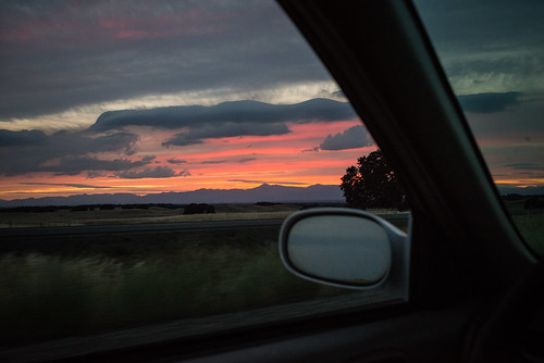 Sunset While Driving to Mount Shasta | by goingslowly