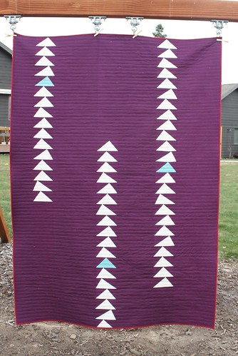 Flying Geese Cabin Quilt Front | by goosequilts