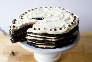 巧克力花生酱冰盒蛋糕