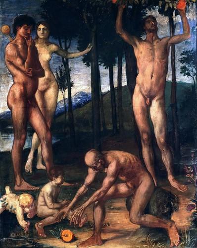 """""""The Four Ages of Man"""" by Hans von Marées"""