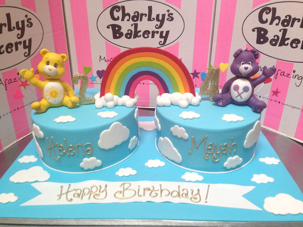 Combined 2nd 4th Care Bears Themed Birthday Cakes Decora Flickr