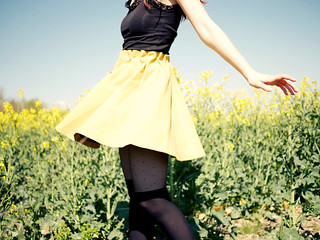 That spinning yellow skirt | by Beyondzewords