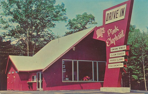 The Pink Elephant Drive-In Restaurant - Seekonk & Easton, …   Flickr