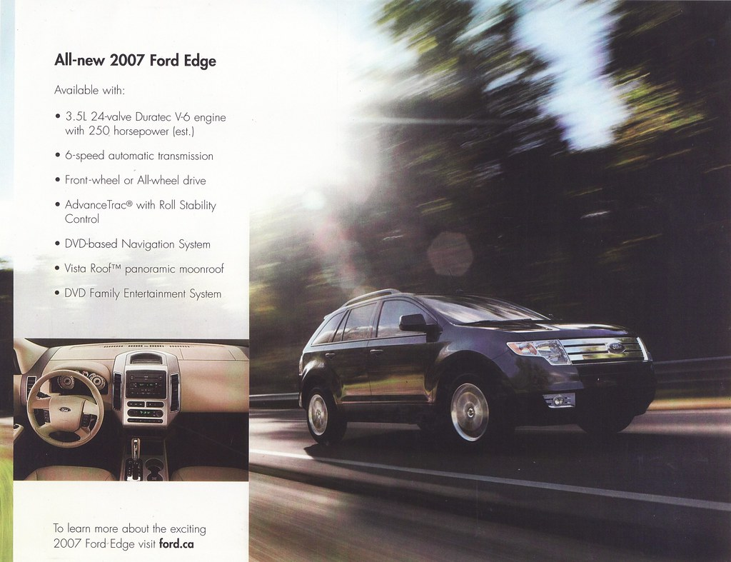 Ford Edge Brochure Canada By Five Starr Photos Aussiefordadverts