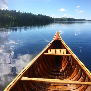 Canoeing on Burntside Lake | by red alder ranch