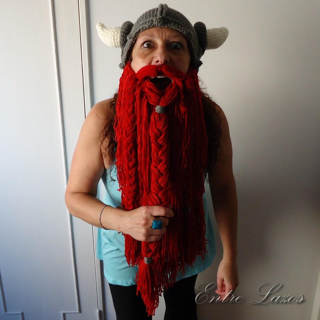Crochet Viking Helmet with Beard 3   Para tejer el gorro: ww…   Flickr