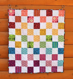 Anna Maria Horner Rainbow Baby Quilt | by CoraQuilts~Carla