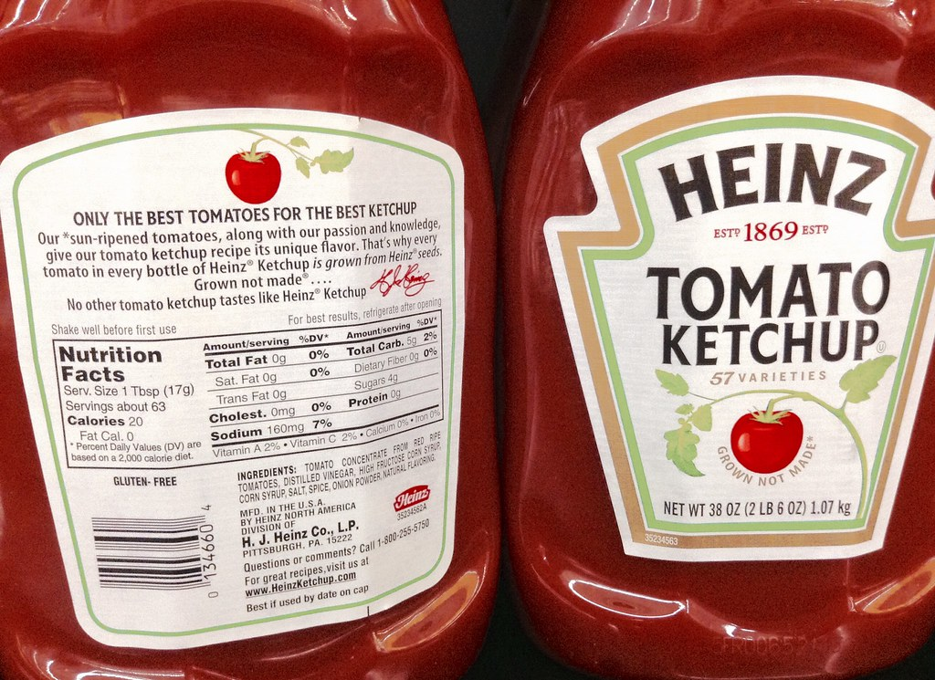 heinz label template - heinz ketchup nutrition facts label nutrition ftempo