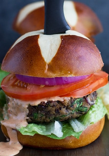 Mushroom-Black-Bean-Burgers-with-Chipotle-Sauce-7 | by littlespicejar