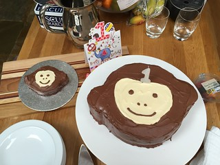 Monkey cakes for little E's first birthday | by louise_using_spoons