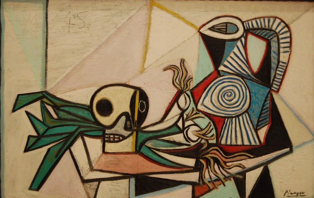 Nature morte avec crâne, poireaux et pichet, Pablo Picasso… | Flickr