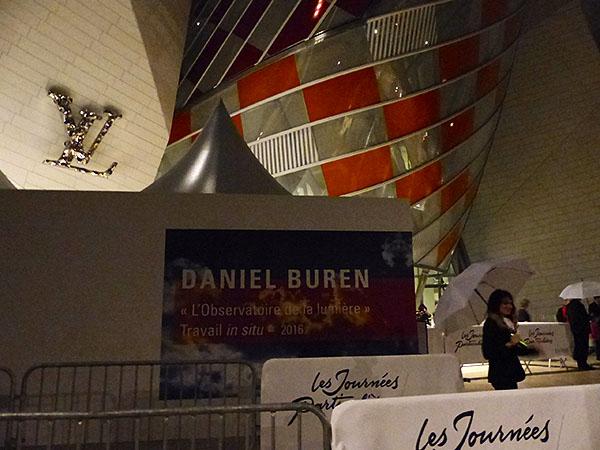 daniel Buren à la fondation Vuitton