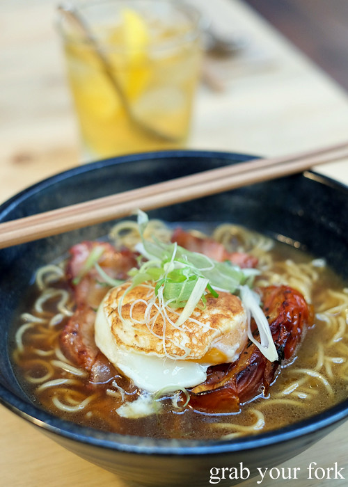 Breakfast ramen with buttered toast broth at Rising Sun Workshop, Newtown