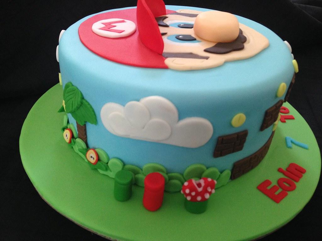 Mario Rice Krispie Fondant Birthday Cake Debbie Windsor Flickr