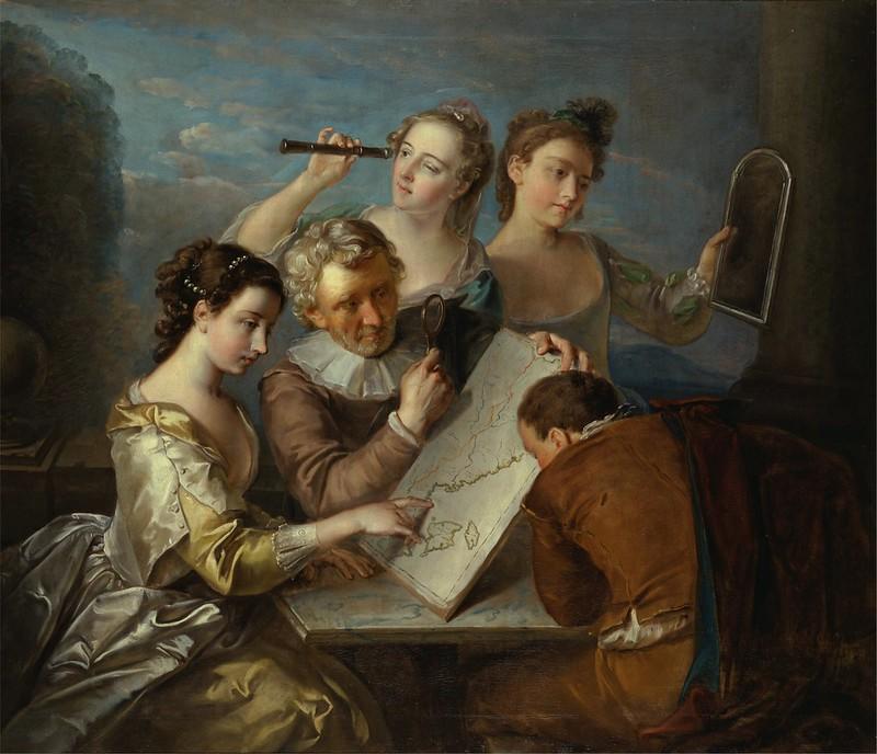 Philippe Mercier - The Sense of Sight (c.1745)