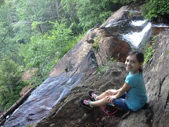 Sophie at the Top of Davis Creek Falls