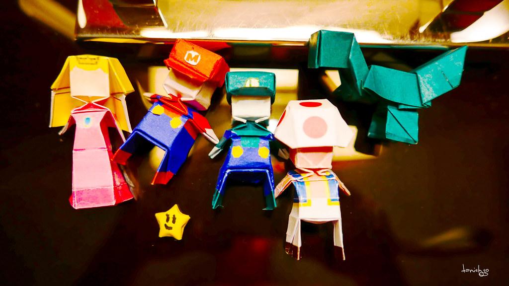 Mario Bros Origami 2 My Sons Mario Brothers Origami H Flickr