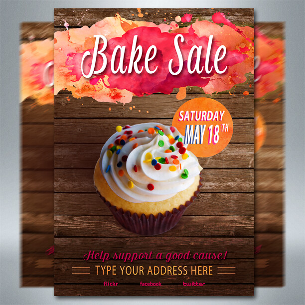 Free Bake Sale Flyer | 100% Free Bake Sale Flyer For Any Eve… | Flickr
