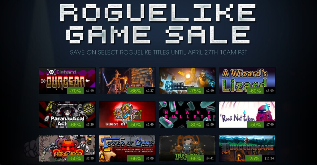 Steam Roguelike Sale - by BagoGames Steam Roguelike Sale - by BagoGames
