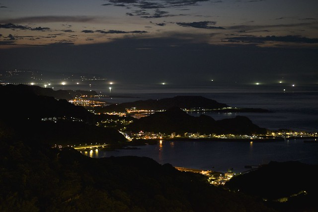 View from JiuFen after sunset