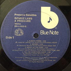 RONNIE LAWS:PRESSURE SENSITIVE(LABEL SIDE-A)