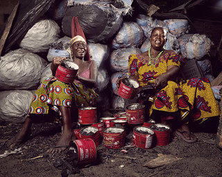 Atatti and Loumonvi sell charcoal in the streets of Bè-Ablogamé, | by World Bank Photo Collection