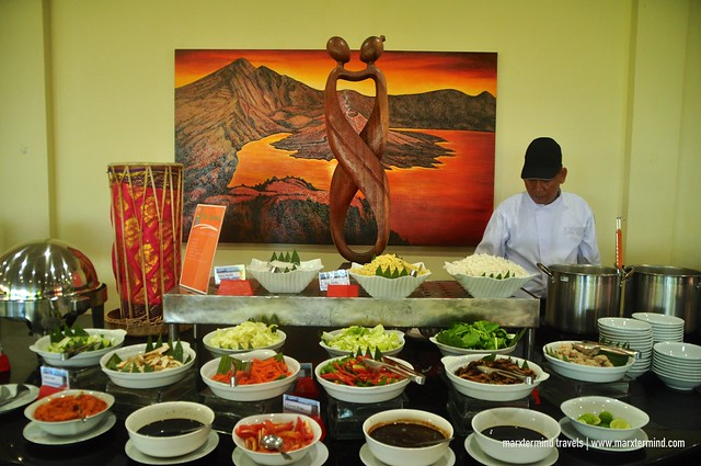 Breakfast Buffet at Rinjani Restaurant Holiday Resort Lombok