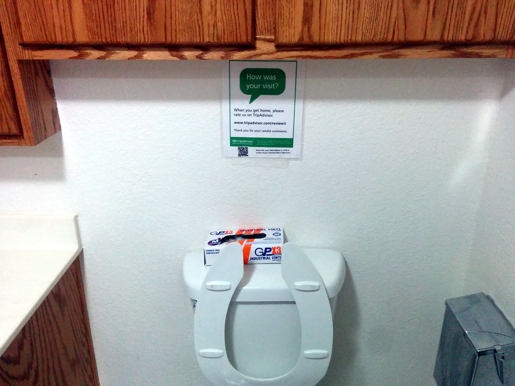 Please rate our toilet on Tripadvisor, Colorado River Disc… | Flickr