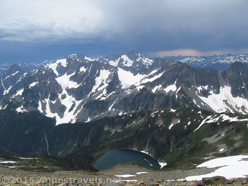 Peaks, lakes, and valleys from Sahale Arm in North Cascades National Park, Washington