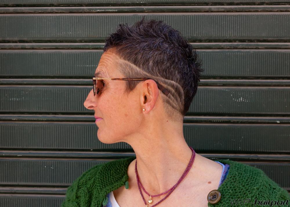 Short Haircut W Mixed Design Haircut By Ramona Wip Hairport