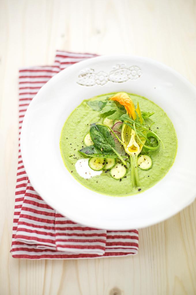 PRIMAVERA 10 crema di zucchine crude con spinaci e rucola