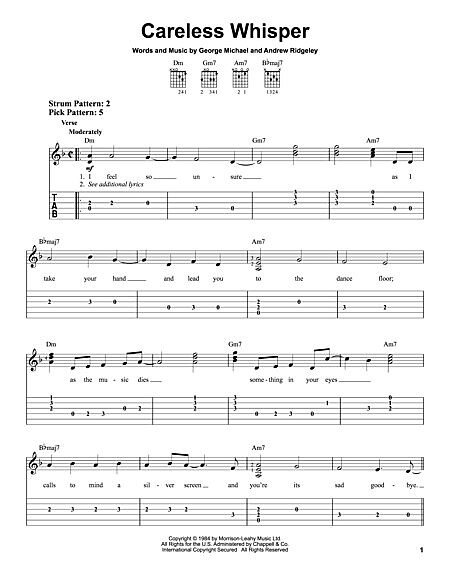 Careless Whisper Guitar Chords | via All about Guitars ift.t… | Flickr