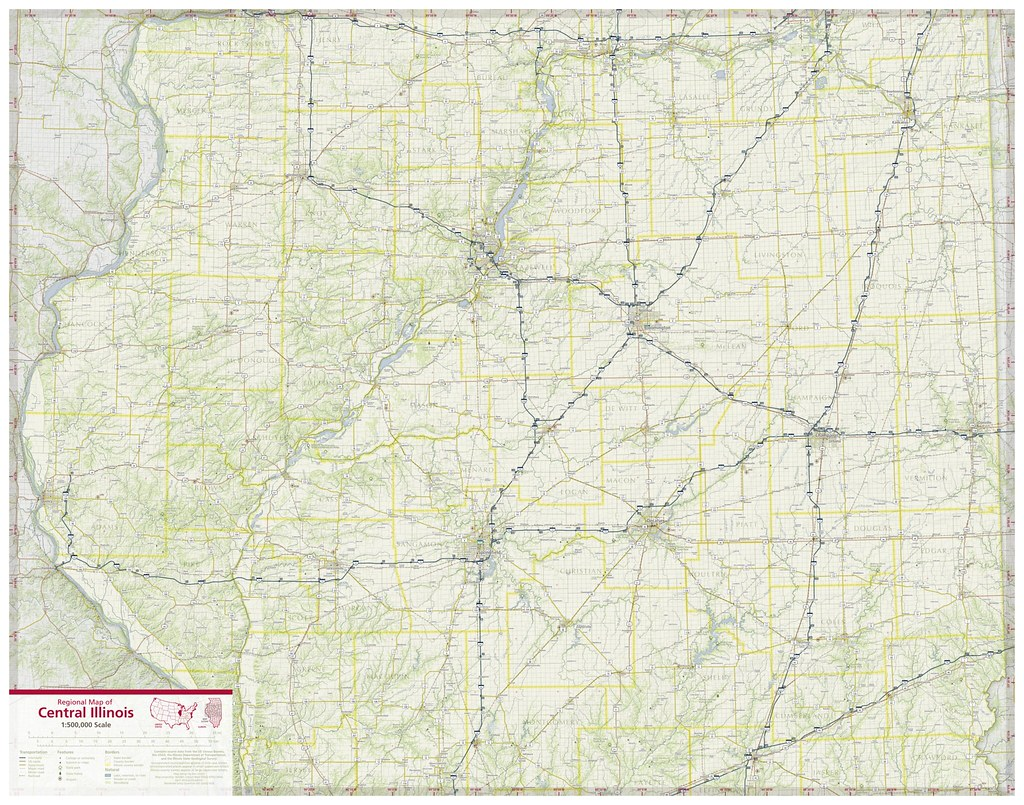 Regional Map of Central Illinois | A regional map of the Cen… | Flickr