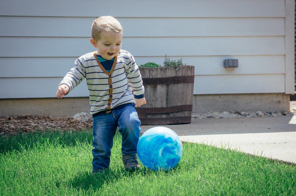 Ezra and the ball