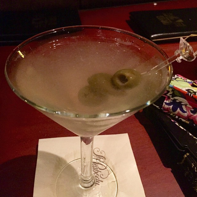 I discovered last night that I like dirty gin martinis!