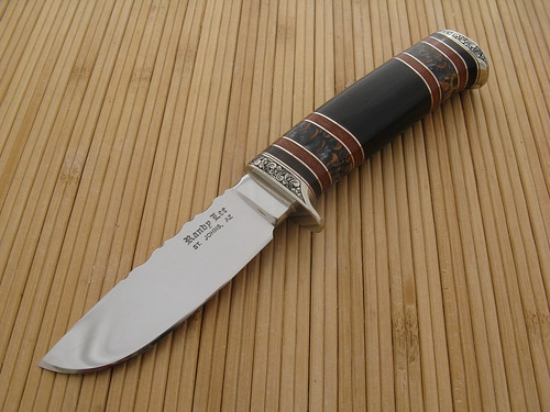 DP 4750 Engraved African Blackwood Hunter (front) | by randyleeknive11