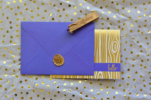 Purple Envelope with Gold Sealing Wax