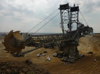 In August 2014 climate activists blocked a digger in one of the Rhineland open-pit coal mines. | by 350.org