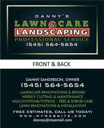 Professional landscaping business cards choice image for Lawn care professionals