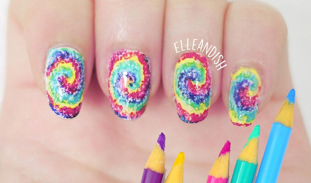 Diy Colored Pencil Nail Art Tutorial Using Hot Water And Flickr