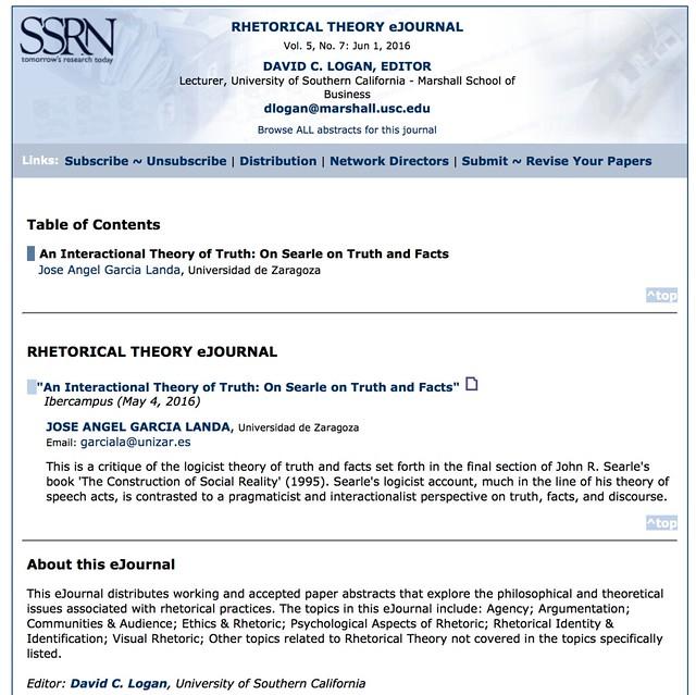 En el Rhetorical Theory eJournal