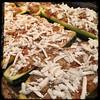 #Stuffed #Zucchini #Bolognese #Homemade #CucinaDelloZio - then ricotta salata