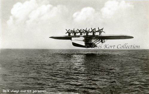 The first flight of the giant twelve engined Dornier Do X [Germany, 1929] | by Kees Kort Collection